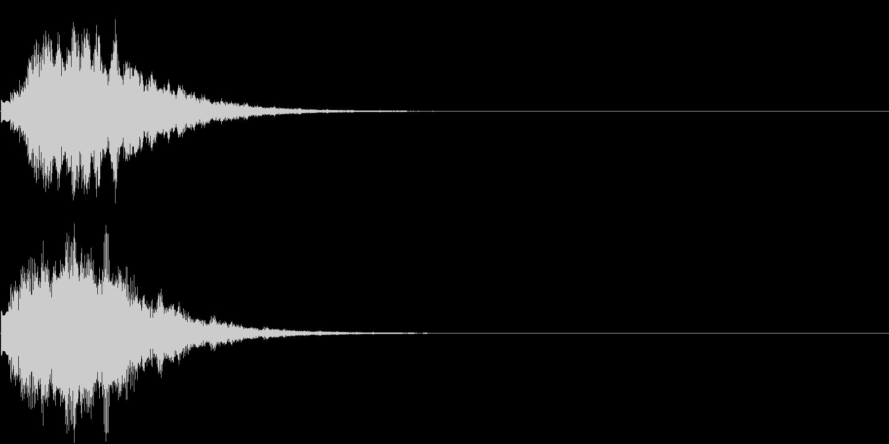 オープニング ロゴ VP等テロップに 4の未再生の波形