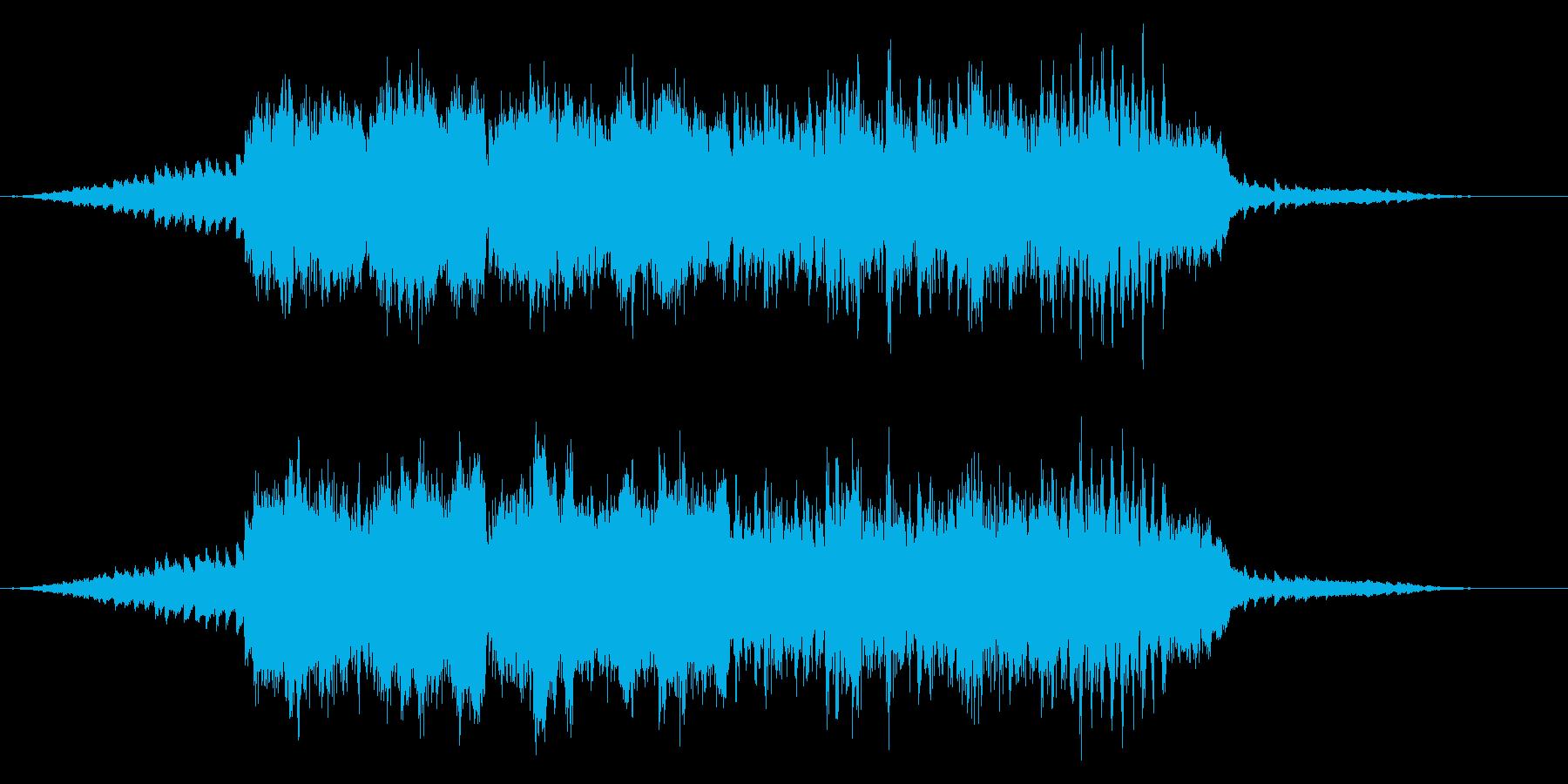 ミステリアスで宇宙的、不思議なサスペンスの再生済みの波形
