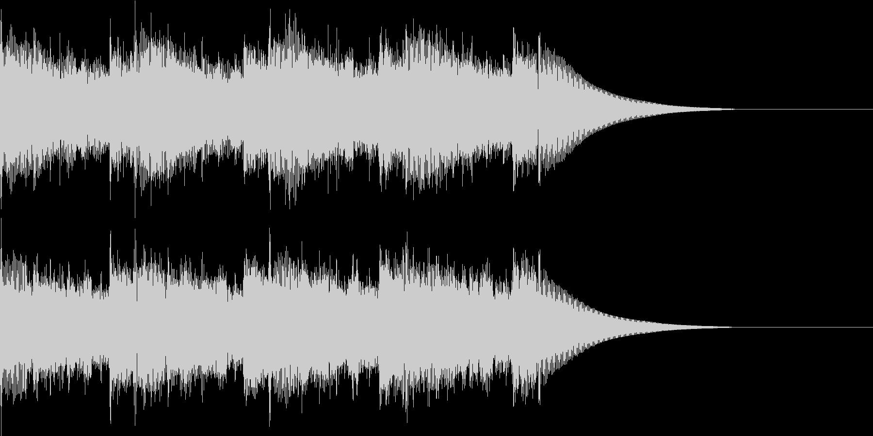 エレキギターのヘビーBGMの未再生の波形