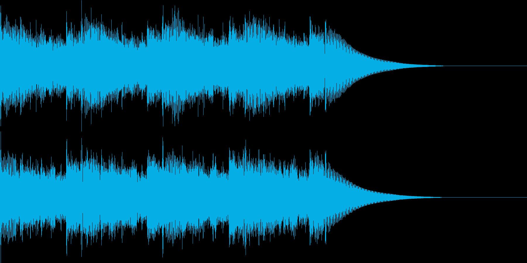 エレキギターのヘビーBGMの再生済みの波形