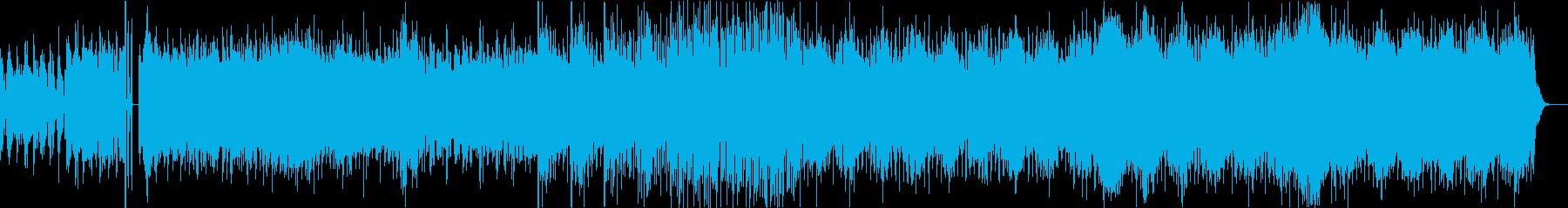 うねる雰囲気のエレクトロニカの再生済みの波形