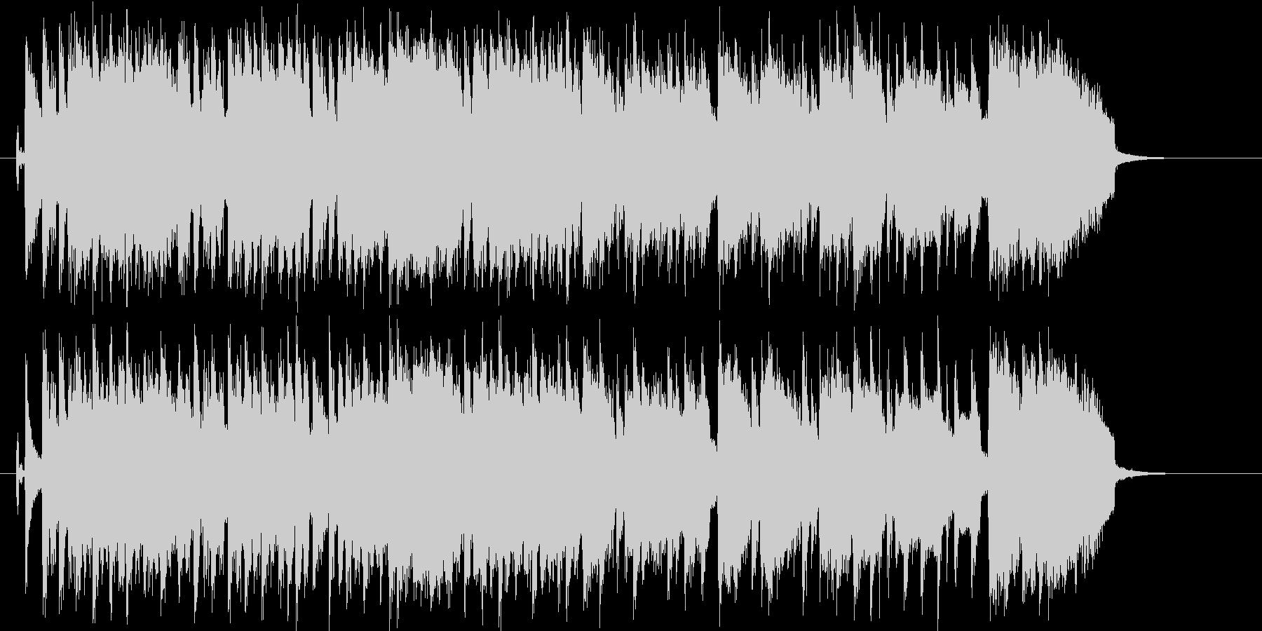 エレキギターがパワフルなロックバンド曲の未再生の波形