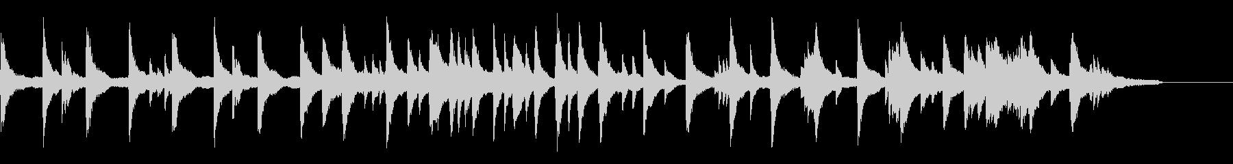ゆったりとした映像によく合うピアノの未再生の波形