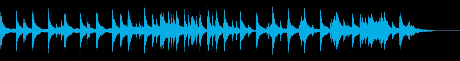 ゆったりとした映像によく合うピアノの再生済みの波形