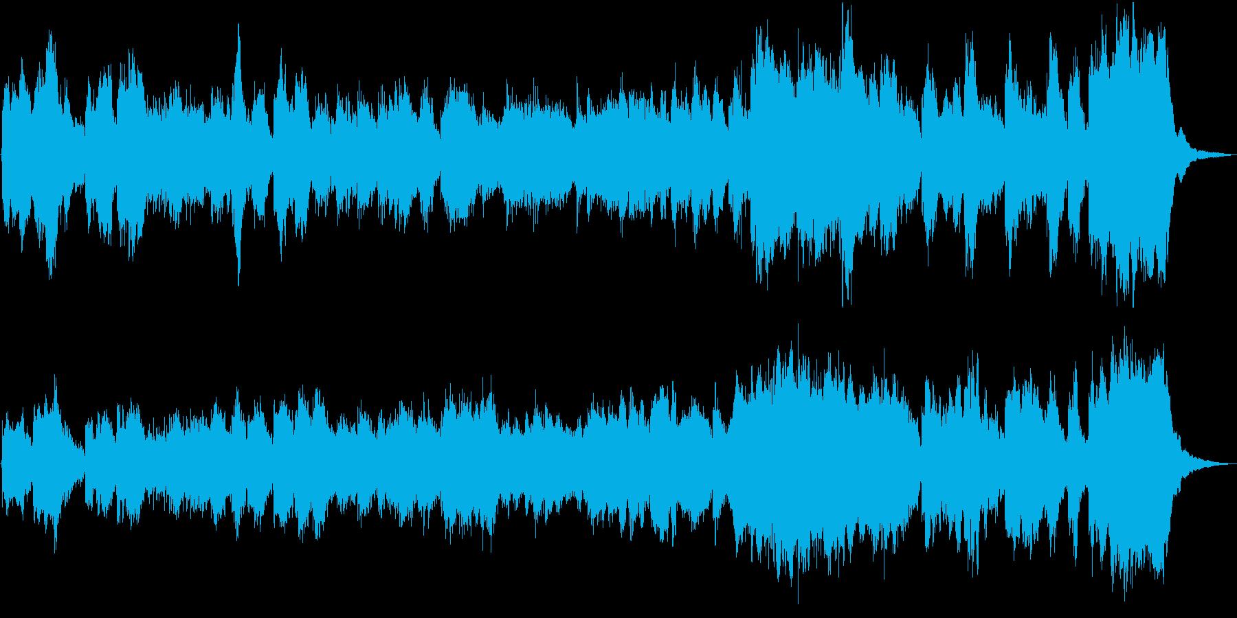 電車が走るシーン等に最適の約30秒の曲の再生済みの波形