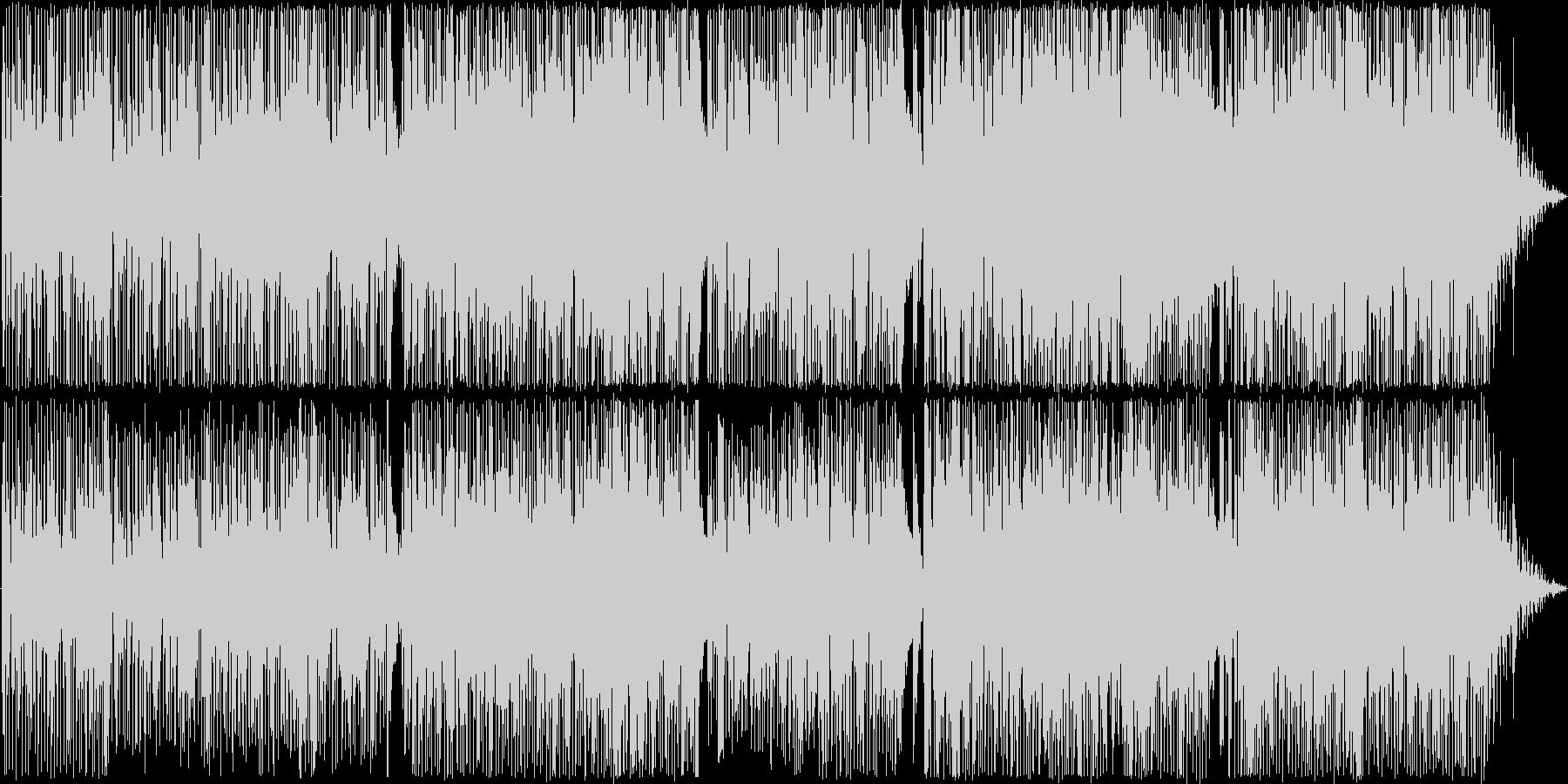 ゆったりとしたファンキーなブルースロックの未再生の波形