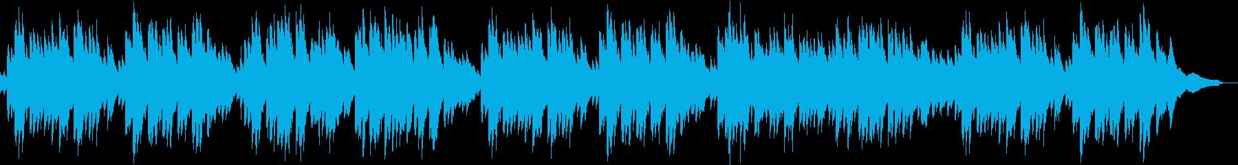 ゆったりした感じのピアノ曲の再生済みの波形