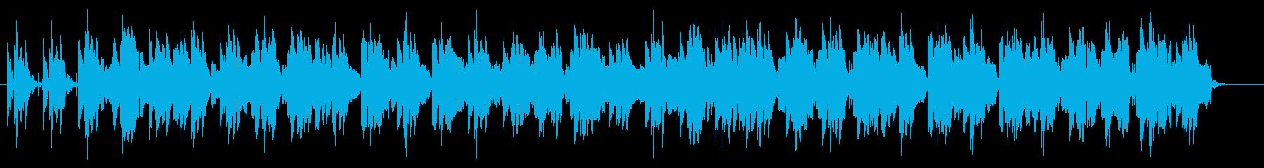笛と太鼓のお囃子的な楽曲の再生済みの波形