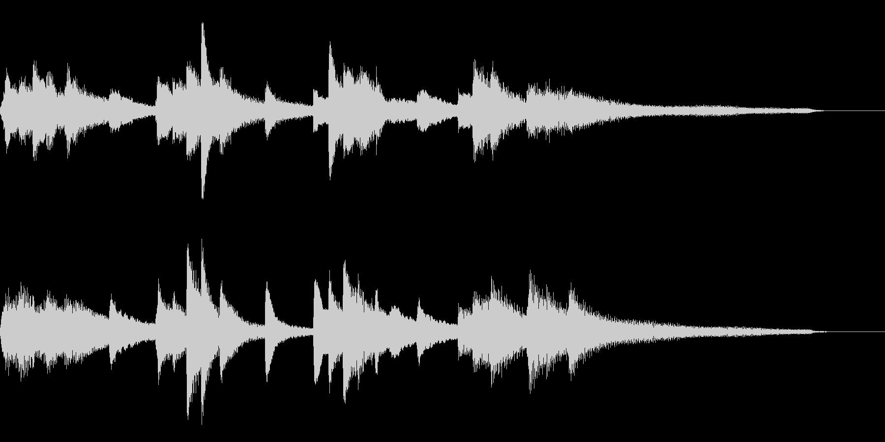 わびさび・和風ジングル28-ピアノソロの未再生の波形
