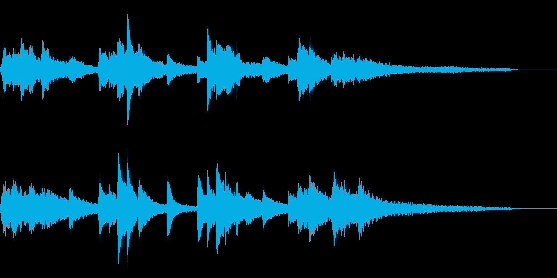 わびさび・和風ジングル28-ピアノソロの再生済みの波形