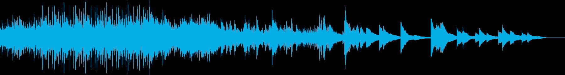 水をイメージしたピアノ曲の再生済みの波形