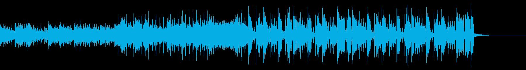楽しい曲調な変則ビートの再生済みの波形
