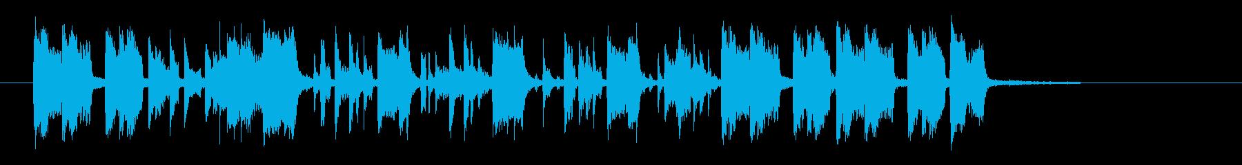 スピードと躍動感あるトランペットジングルの再生済みの波形