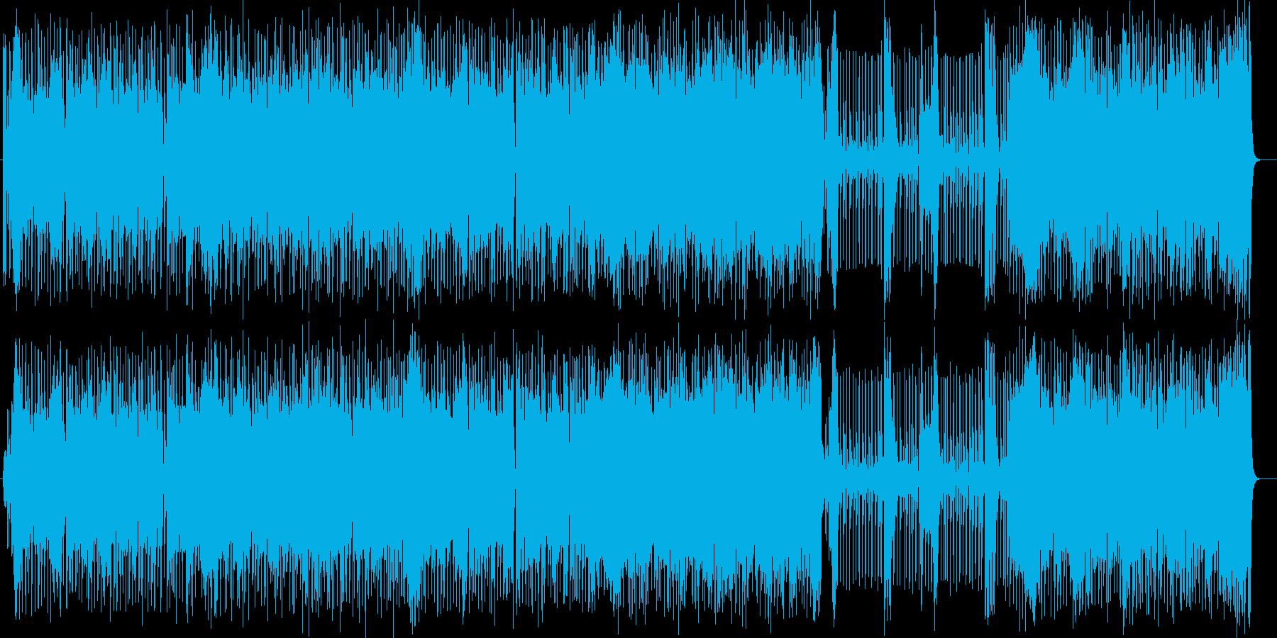 軽快でリズム感のあるポップスの再生済みの波形