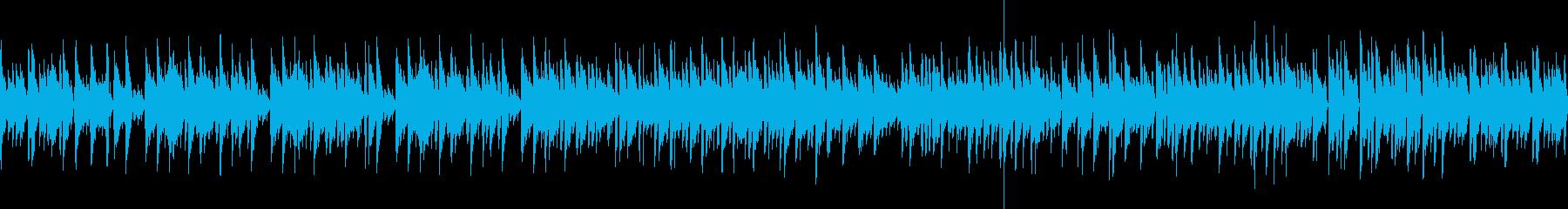 ほのぼのしたアコースティックなボサノバ曲の再生済みの波形