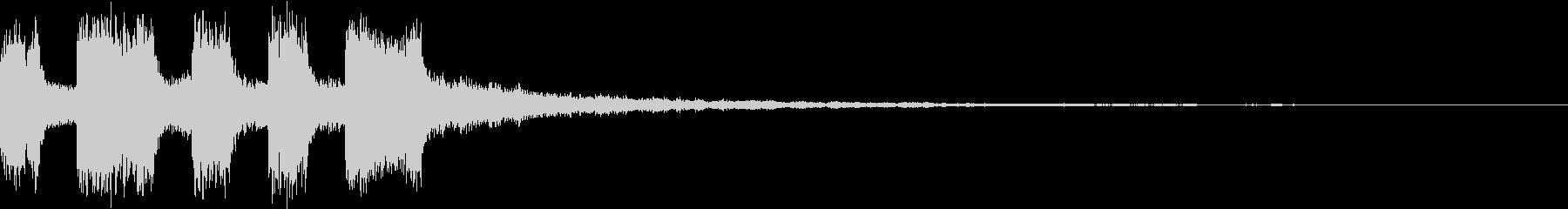 シンプル アナログ ファンファーレ 04の未再生の波形
