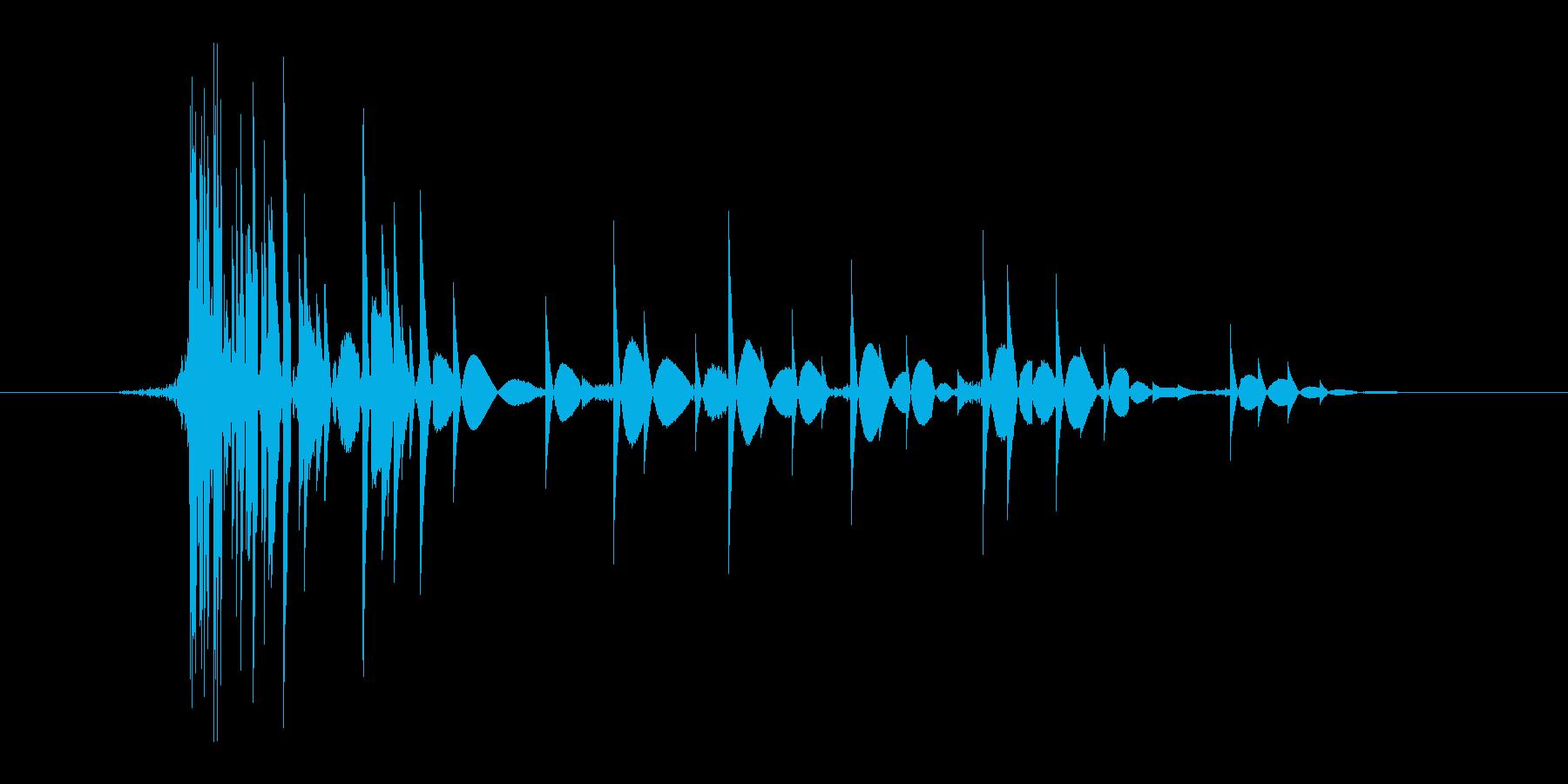 ゲーム(ファミコン風)爆発音_007の再生済みの波形