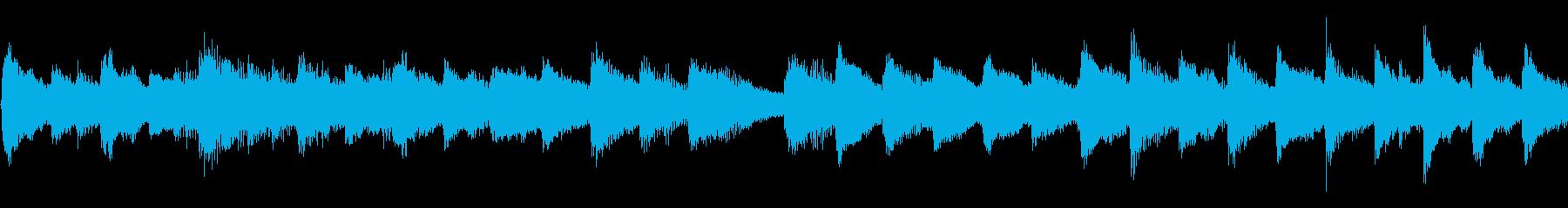 ピアノとチェレスタの優しいメロディの再生済みの波形