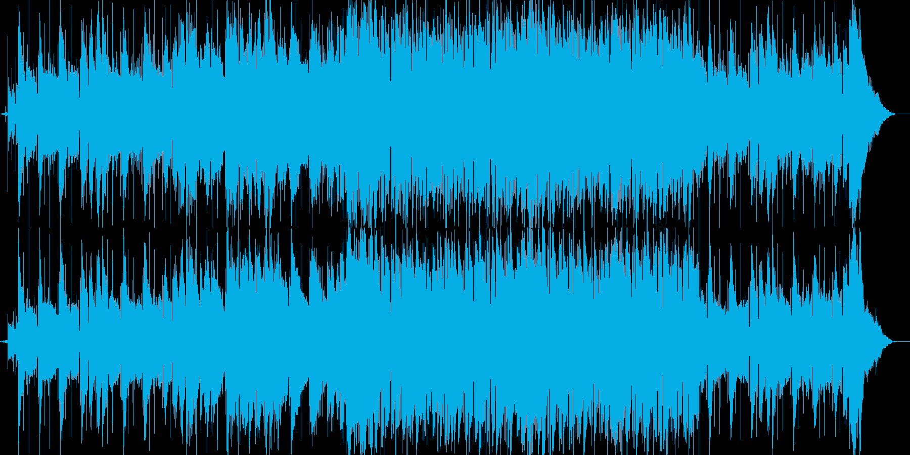 メロウな感動系BGMの再生済みの波形