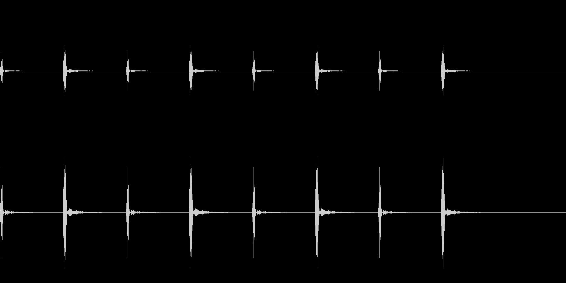 柱時計の秒針_その3の未再生の波形