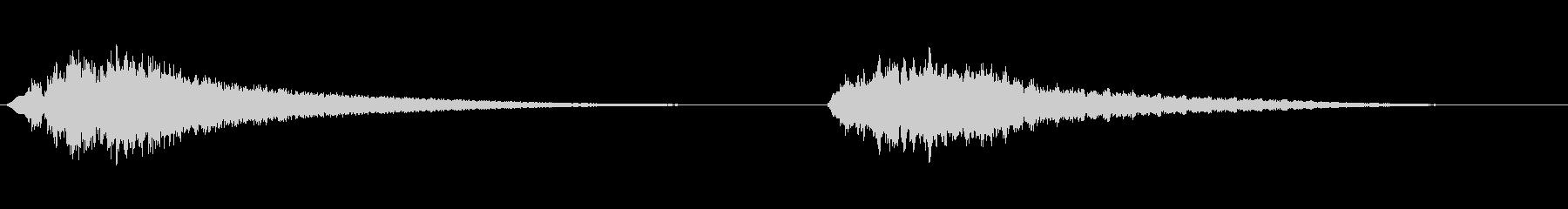 スペーススイープ-up_downの未再生の波形