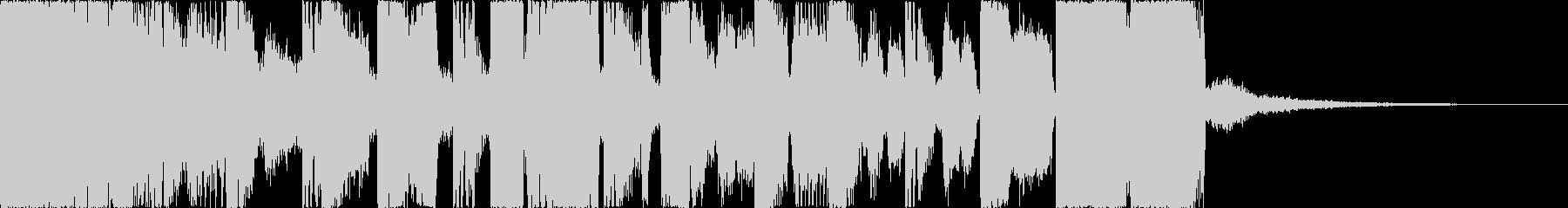 派手、デジタルな印象のジングル5の未再生の波形