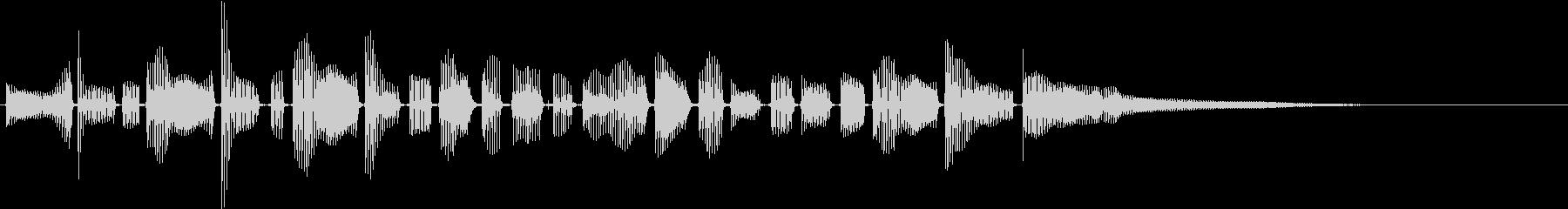 口ハープ:音楽アクセントの未再生の波形