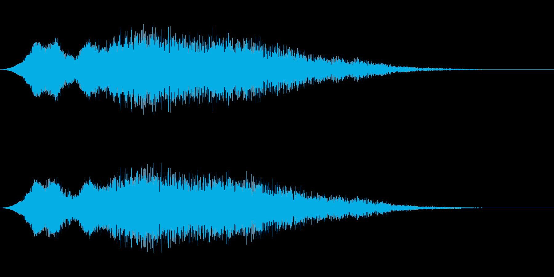 ゆるい落下(電子音)の再生済みの波形