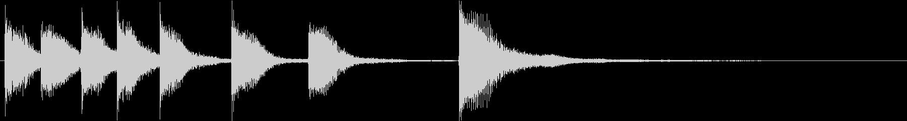 ピアノジングル 幼児向けアニメ系H-01の未再生の波形