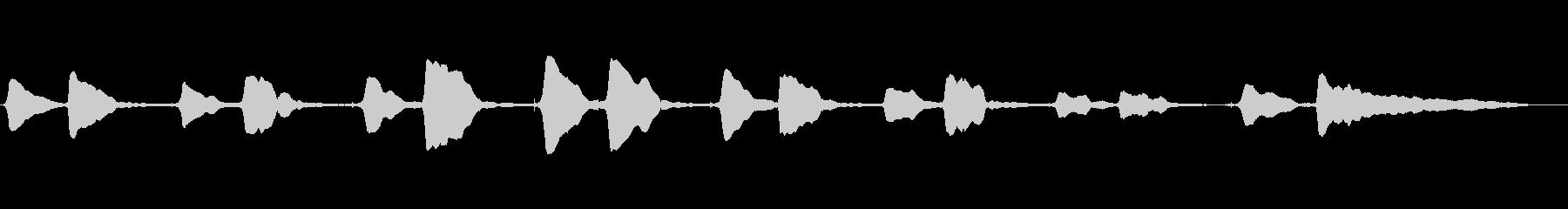 サックスのソロ演奏 温かいメロの未再生の波形