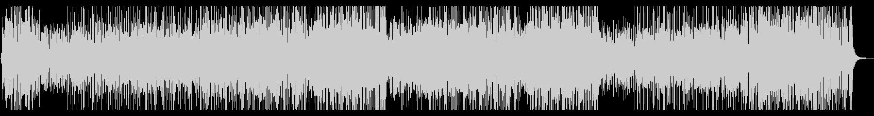 ピアノとドラムの疾走感のあるBGMの未再生の波形