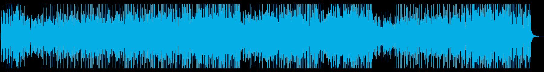 ピアノとドラムの疾走感のあるBGMの再生済みの波形