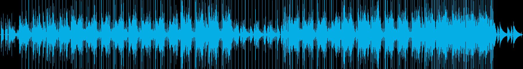 お洒落なJAZZ HIPHOPの再生済みの波形