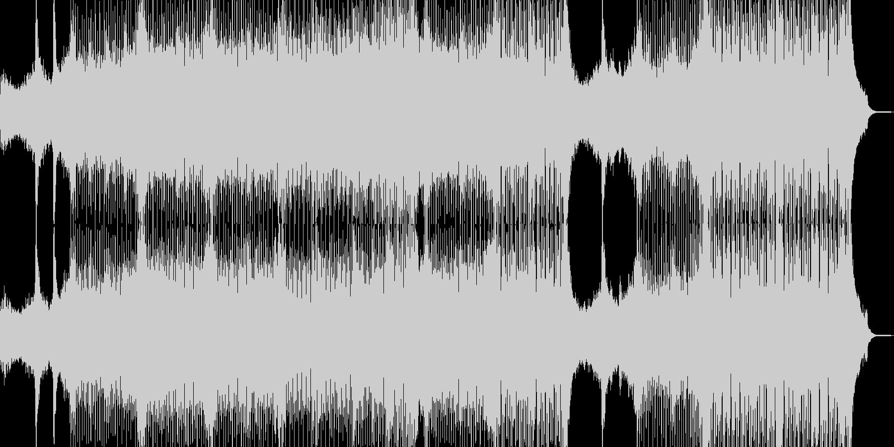 近未来を思い描いたテクノポップ Bの未再生の波形