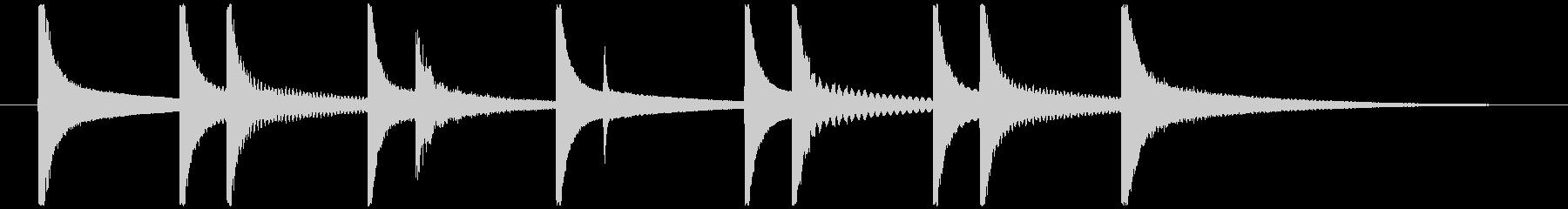 オルゴールメインの可愛らしいジングルの未再生の波形