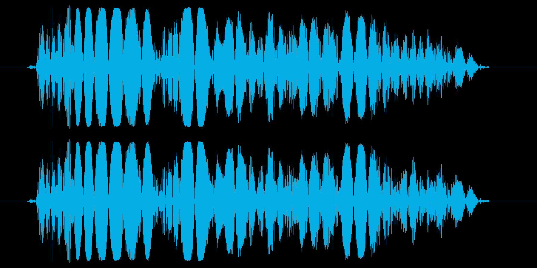 少し重めのパンチ,キックの効果音01の再生済みの波形