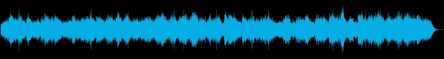 水中のような幻想的なシンセサイザーの音楽の再生済みの波形