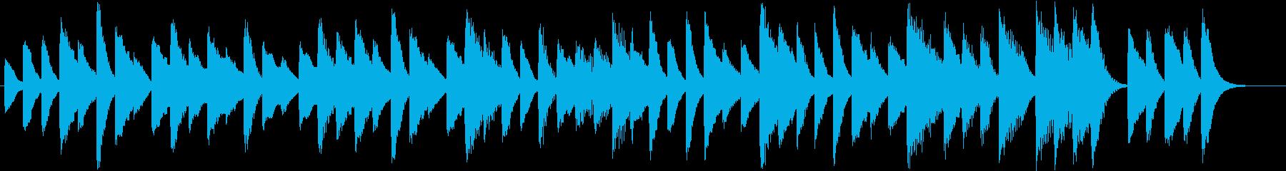 お料理動画に♪気楽な可愛いピアノジングルの再生済みの波形