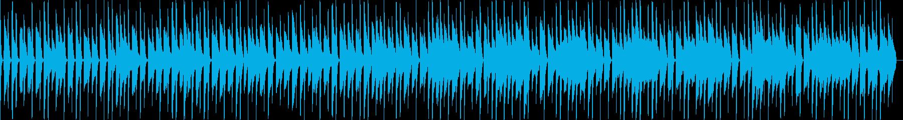 スマホゲームなど、ほのぼのデジタル音楽の再生済みの波形