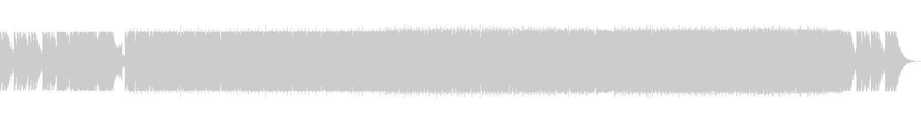 bpm121のピアノ中心のEDMの未再生の波形