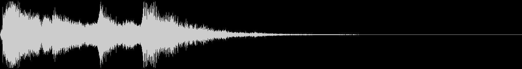 和楽器の純和風な短いジングル。尺八verの未再生の波形
