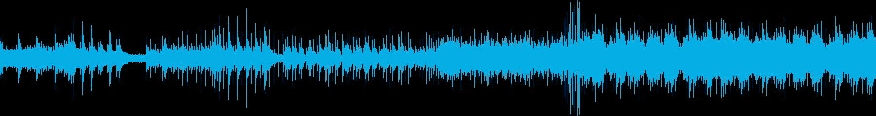 ハープとピアノを使ったワクワク感ポップスの再生済みの波形