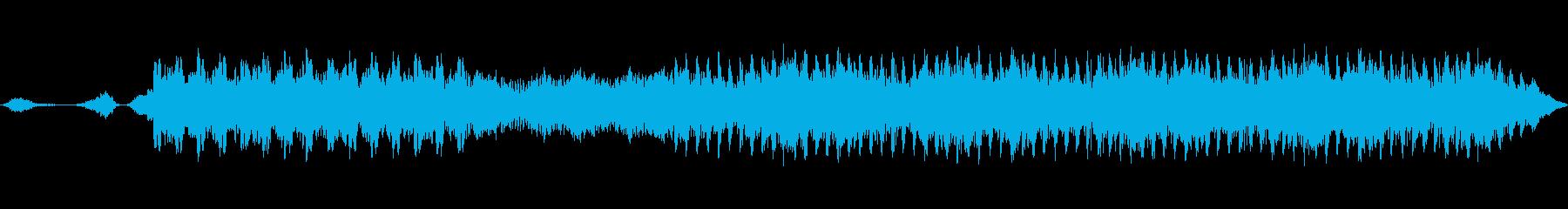 動きのあるシンセサイザーと神聖なコーラスの再生済みの波形