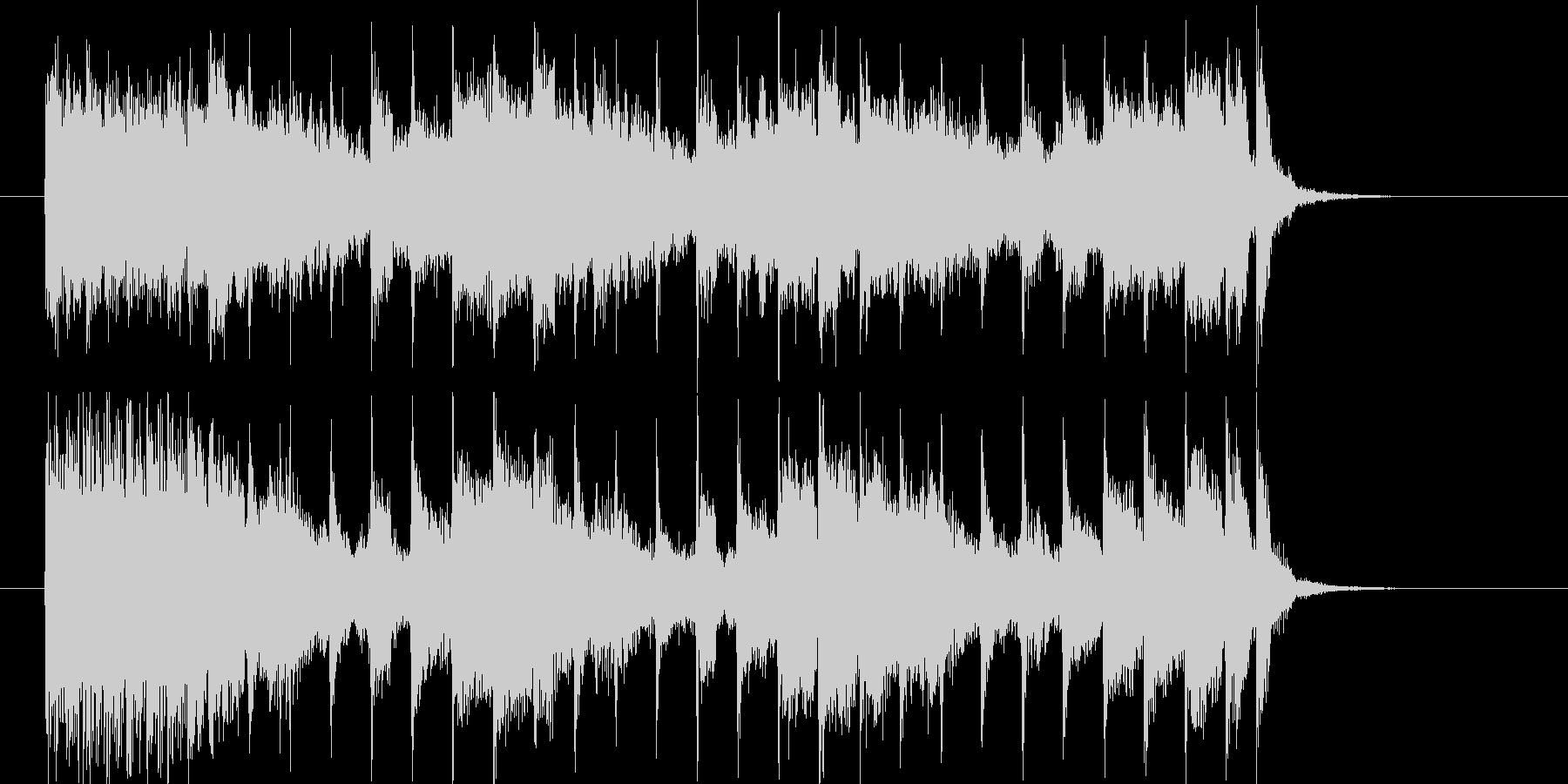 アップテンポなポップスによるジングル曲の未再生の波形