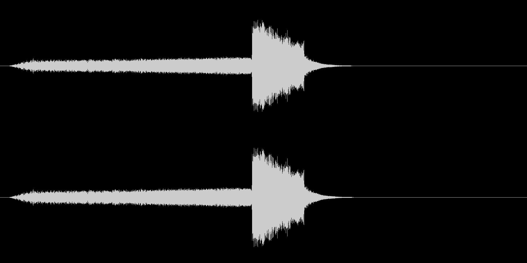 スティンガーとスイープの未再生の波形