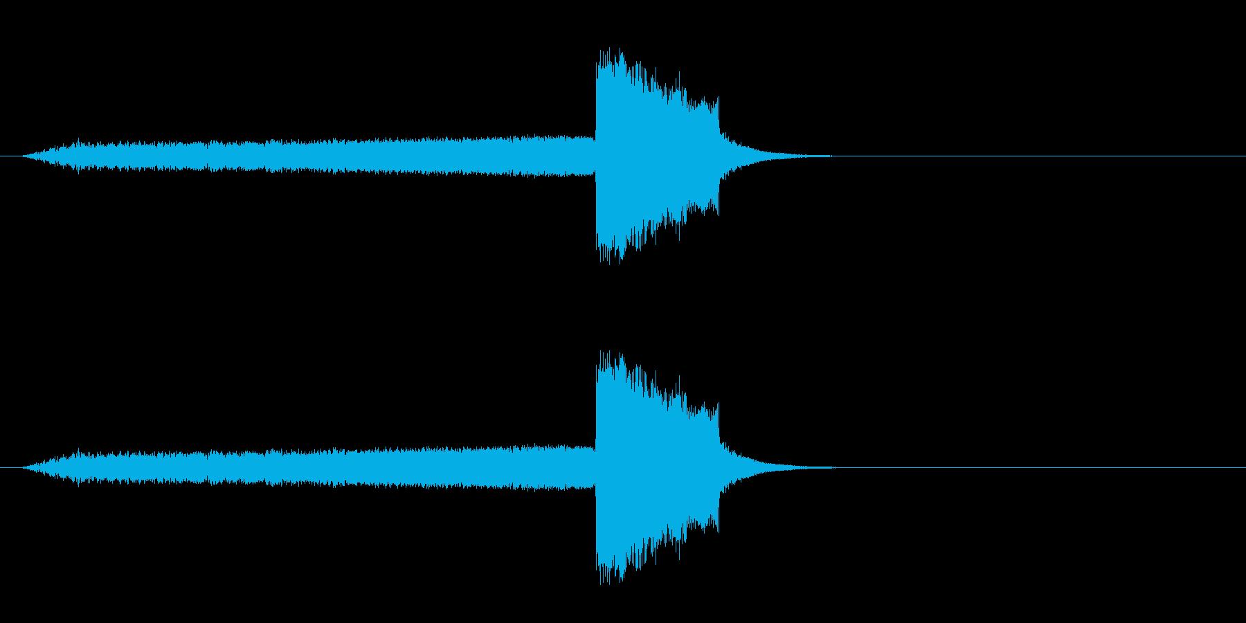 スティンガーとスイープの再生済みの波形