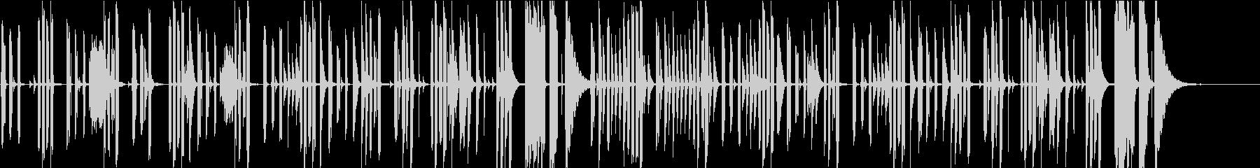 会話シーン・音数少なめシンプルなピアノの未再生の波形