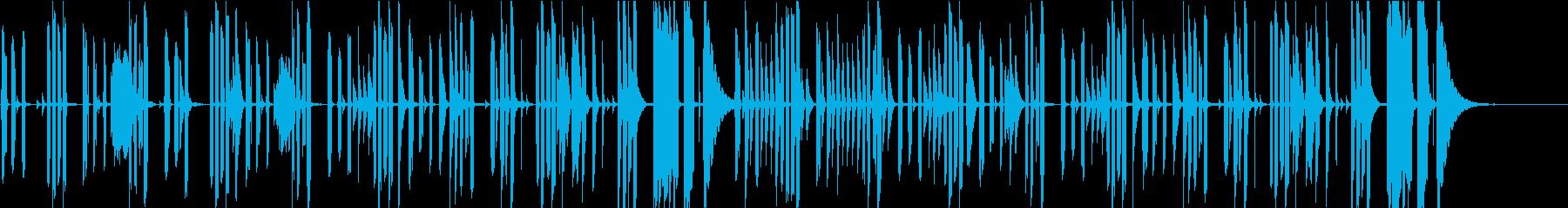 会話シーン・音数少なめシンプルなピアノの再生済みの波形