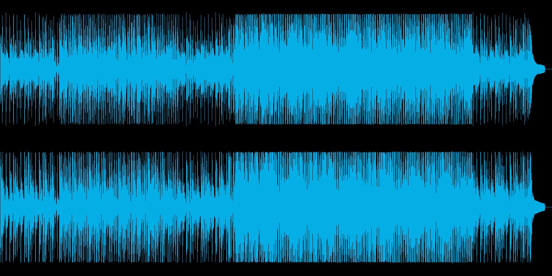 ハッピー&ポップなアコースティックBGMの再生済みの波形