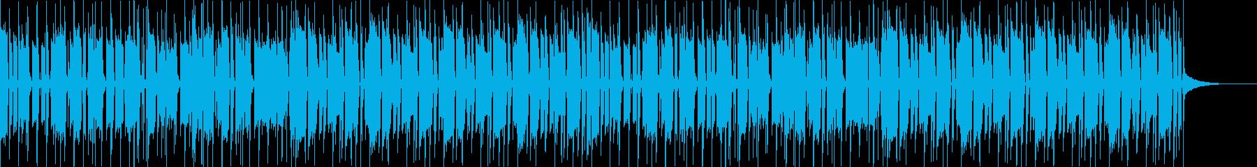 ベースが印象的なファンクの再生済みの波形